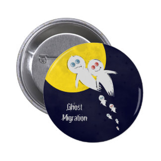 Happy Halloween from a Ghost Family Button