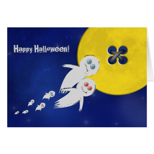 Happy Halloween from a Ghost Family Greeting Card