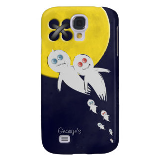 Happy Halloween from a Ghost Family Samsung Galaxy S4 Cases