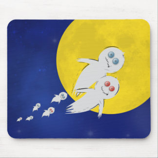 Happy Halloween from a Ghost Family Mousepad