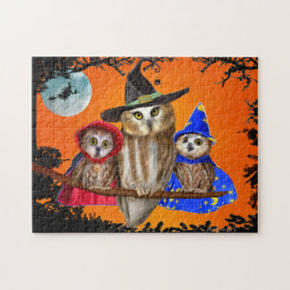 HAPPY HALLOWEEN FROM OWL OF US! JIGSAW PUZZLE