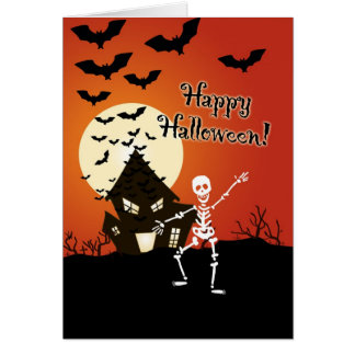 Happy Halloween from the dancing skeleton Greeting Card