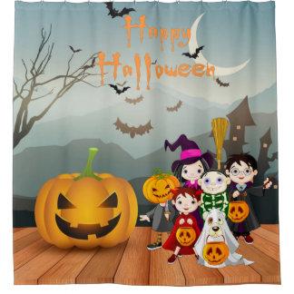 Happy Halloween Fun Spooky Night Shower Curtain