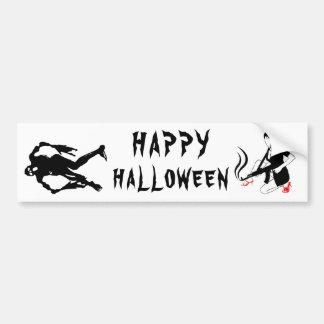 Happy Halloween Funny chic and unique custom Bumper Sticker