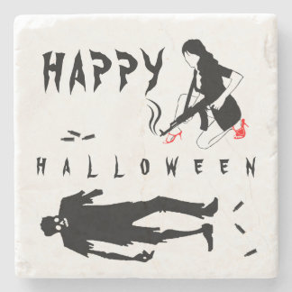 Happy Halloween Funny chic and unique custom Stone Coaster