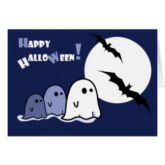 Happy Halloween!Funny Little Ghosts Greeting Cards