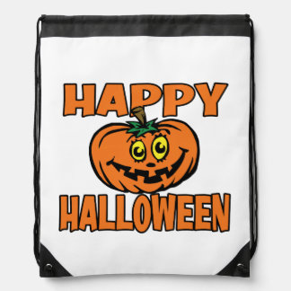 Happy Halloween Funny Pumpkin Candy or Costume Bag Backpack