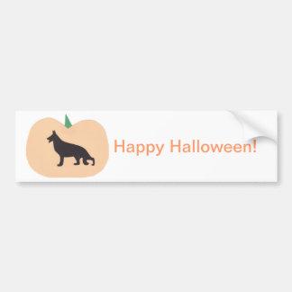 Happy Halloween German Shepherd Bumper Sticker