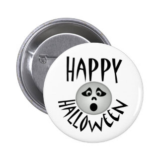Happy Halloween Ghost Buttons
