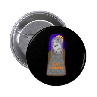 happy halloween ghost button