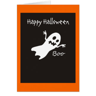 Happy Halloween Ghost Card