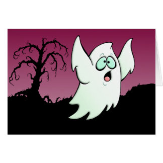 Happy Halloween Ghost Greeting Cards