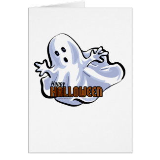Happy Halloween Ghost Cards