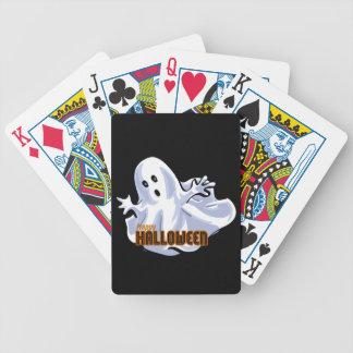 Happy Halloween Ghost Cartoon Poker Cards