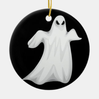 Happy Halloween Ghost Ceramic Ornament