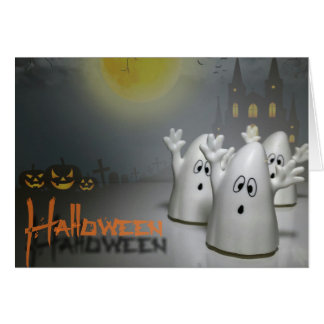 Happy Halloween Ghost Greeting Card