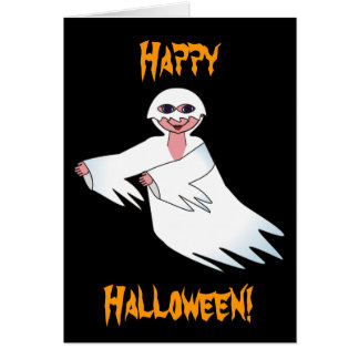 Happy Halloween Ghost Note Card