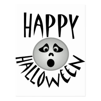 Happy Halloween Ghost Postcard