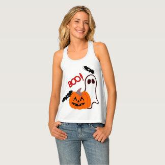 Happy Halloween Ghost with Pumpkin Singlet