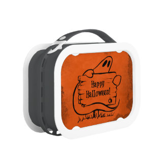 Happy Halloween Ghost with Sign Yubo Lunch Box