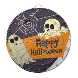 Happy Halloween Ghosts and Crossbones Dartboard