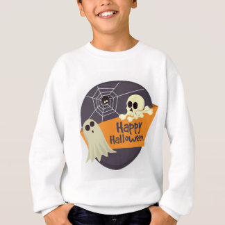 Happy Halloween Ghosts and Crossbones Sweatshirt