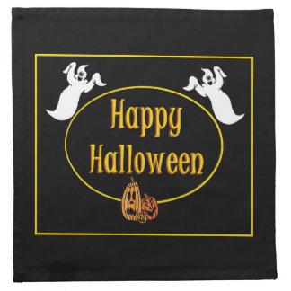 Happy Halloween Ghosts And Pumpkin Napkin