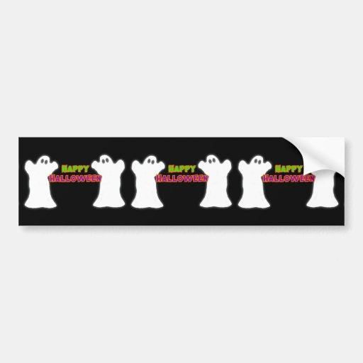 Happy Halloween Ghosts Bumper Sticker