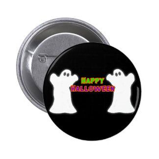 Happy Halloween Ghosts Buttons