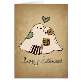 happy halloween ghosts greeting card
