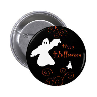Happy Halloween Ghosts Pinback Buttons