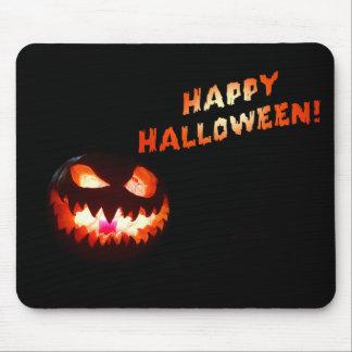 HAPPY HALLOWEEN - Glowing Jack-O-Lantern Mouse Pad