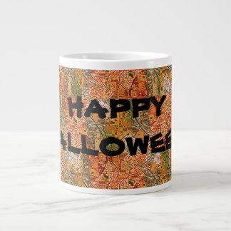 HAPPY HALLOWEEN! GREEN TANGERINE ABSTRACT MUG