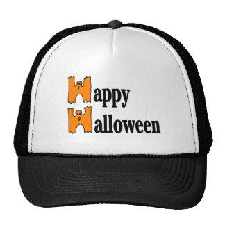 Happy Halloween Greeting Mesh Hat