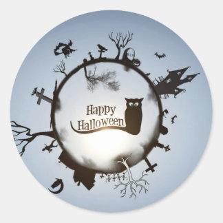 Happy Halloween greeting Round Sticker