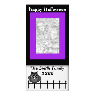 Happy Halloween Greetings Hoot Owl Photo Card