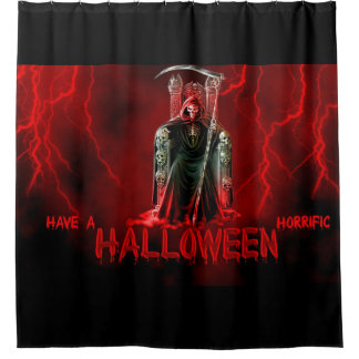 Happy halloween Grim Reaper Shower Curtain