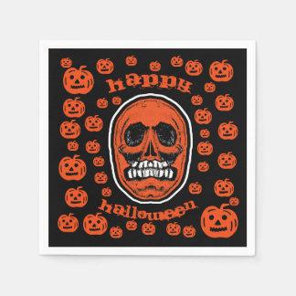 Happy Halloween - Grinder Teeth Skull 2 Paper Napkin