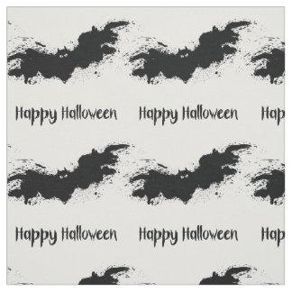 Happy Halloween grunge bats Fabric