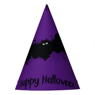 Happy Halloween grunge bats Party Hat