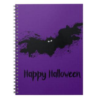 Happy Halloween grunge bats Spiral Notebook