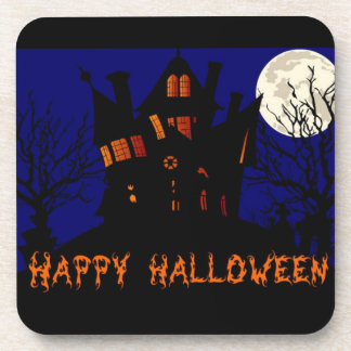 Happy Halloween Haunted House Coaster