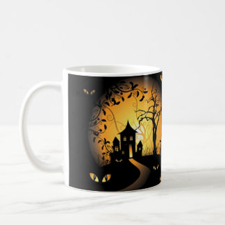 Happy Halloween Haunted House Creepy Spooky Mug