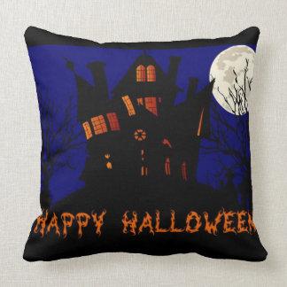 Happy Halloween Haunted House Cushion
