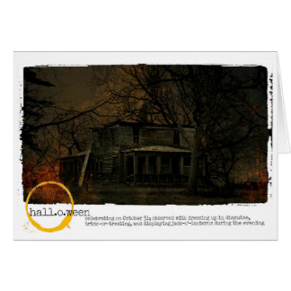 Happy Halloween haunted house Photography Note Card