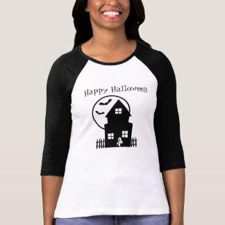 Happy Halloween Haunted House Shirt Babydoll