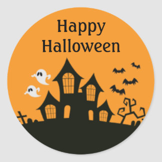 Happy Halloween Haunted House Stickers