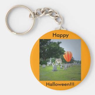 Happy Halloween!  Haunting! Basic Round Button Key Ring