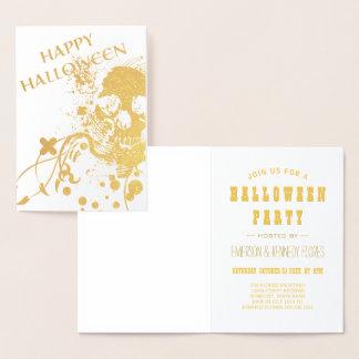 Happy Halloween HiFi Skeleton Foil Card
