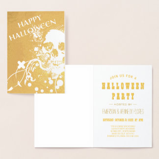 Happy Halloween HiFi Skeleton Gold Foil Foil Card